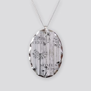 Dandelion Wish Necklace Oval Charm