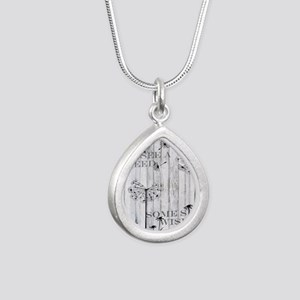Dandelion Wish Silver Teardrop Necklace