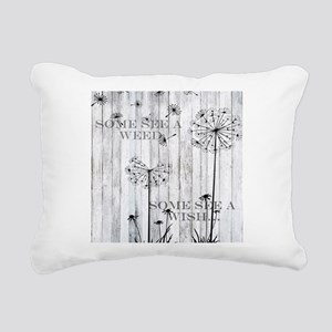 Dandelion Wish Rectangular Canvas Pillow