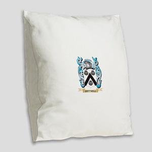 Cottrell Coat of Arms - Family Burlap Throw Pillow