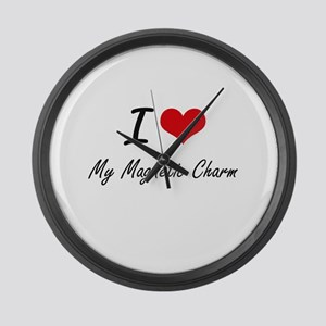 I Love My Magnetic Charm Large Wall Clock