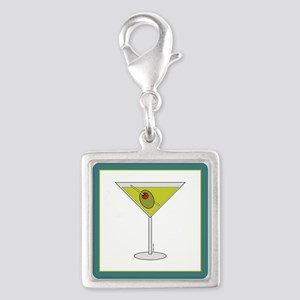 TINI TIME Silver Square Charm