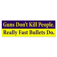 Guns Don't Kill People Bumper Bumper Sticker