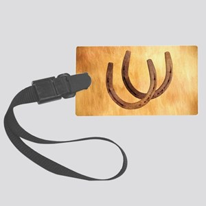 Rustic Horseshoes Luggage Tag