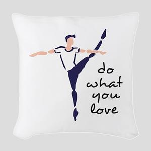 Do What You Love Woven Throw Pillow