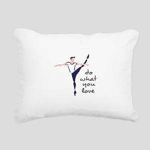Do What You Love Rectangular Canvas Pillow