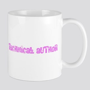 Technical Author Pink Flower Design Mugs