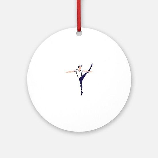 Male Dancer Round Ornament
