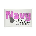 Navy Sister Rectangle Magnet (100 pack)