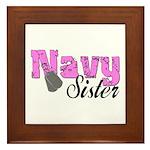 Navy Sister Framed Tile