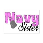 Navy Sister  Mini Poster Print