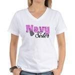 Navy Sister Women's V-Neck T-Shirt