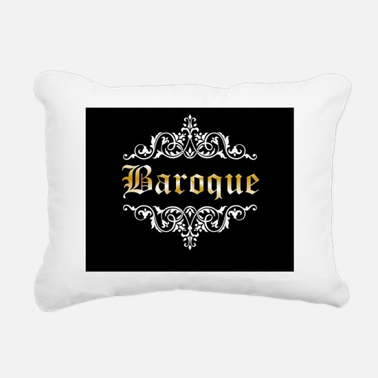 Baroque white Rectangular Canvas Pillow