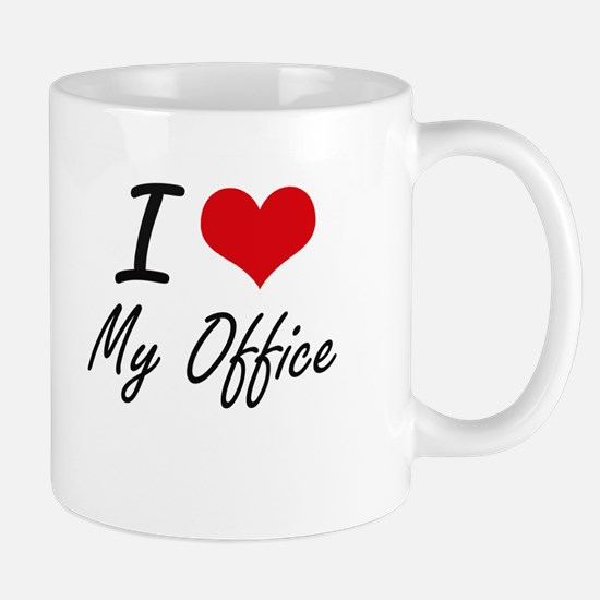 I Love My Office Mugs