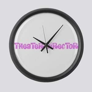 Theater Director Pink Flower Desi Large Wall Clock