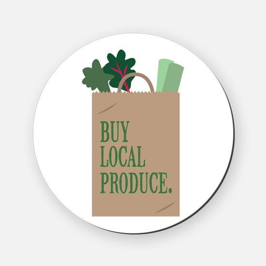 Local Produce Cork Coaster