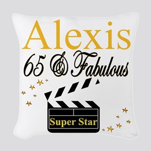 65 YEARS OLD Woven Throw Pillow