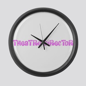Theatre Director Pink Flower Desi Large Wall Clock