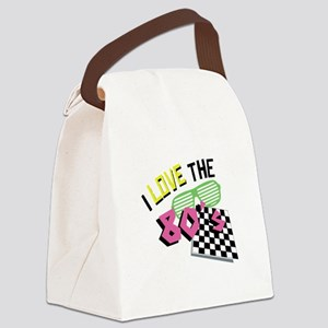 I Love The 80s Canvas Lunch Bag