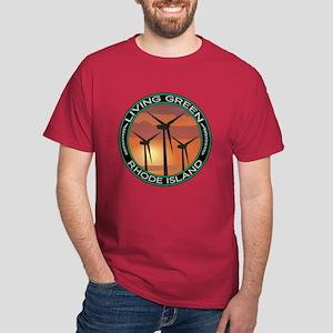 Living Green Rhode Island Wind Power Dark T-Shirt