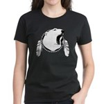 First Nations Tribal Bear Art Women's Dark T-Shirt