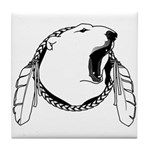 Tribal Bear Claw Tile Coaster