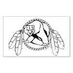 First Nations Tribal Art Bear Sticker