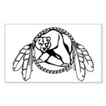 Tribal Bear Claw Sticker (Rectangle)