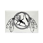 Bear Claw Tribal Art Rectangle Magnet 10 pack
