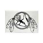 First Nations Tribal Art Fridge Magnet Bear Claw