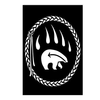 First Nations Art Postcards 8 Pack Bear Claw