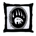 Tribal Bear Claw Throw Pillow