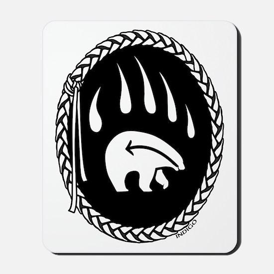 First Nations Tribal Art Mousepad Metis Bear Art