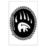 First Nations Tribal Bear Art Large Poster / Print