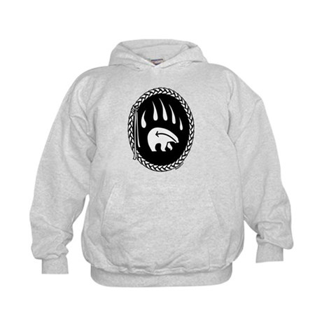 Tribal Art Kids Hoodie First Nations Bear Claw