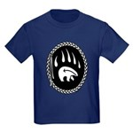 Tribal Bear Claw Kids Dark T-Shirt
