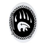 Tribal Bear Claw Oval Ornament