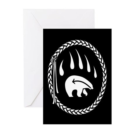 Tribal Art Greeting Cards 10 pack Bear Claw Cards
