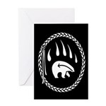 First Nations Cards Tribal Bear Art Greeting Card