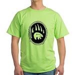 First Nations Tribal Art Green T-Shirt