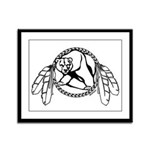 First Nations Tribal Bear Art Framed Panel Print