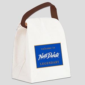 Welcome to North Dakota - USA Canvas Lunch Bag