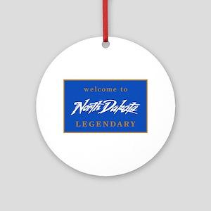 Welcome to North Dakota - USA Round Ornament