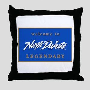 Welcome to North Dakota - USA Throw Pillow