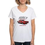 Fugly-Racing Women's V-Neck T-Shirt