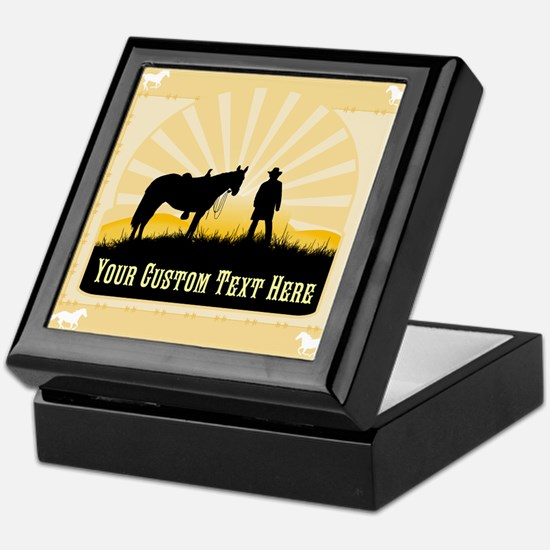 Personalized Western Keepsake Box