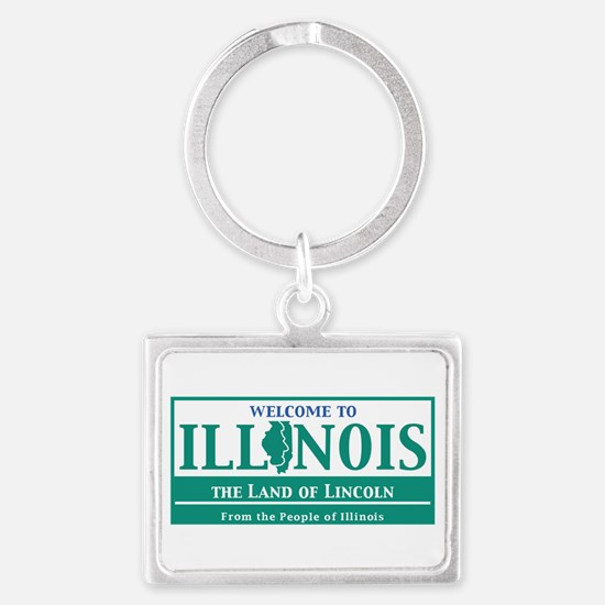 Welcome to Illinois - USA Landscape Keychain