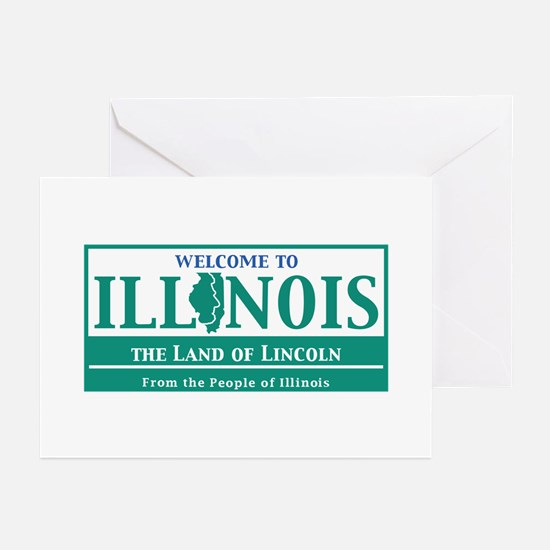 Welcome to Illinois - US Greeting Cards (Pk of 10)