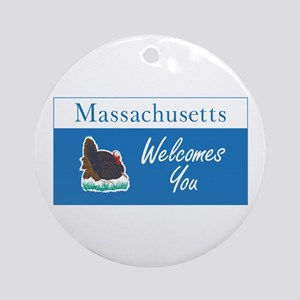 Welcome to Massachusetts - USA Round Ornament