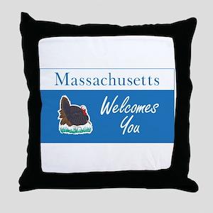 Welcome to Massachusetts - USA Throw Pillow
